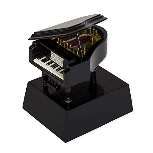 Broadway Gift Black Grand Piano Music Instrument Miniature Replica on Stand, Size 3.5 x in.