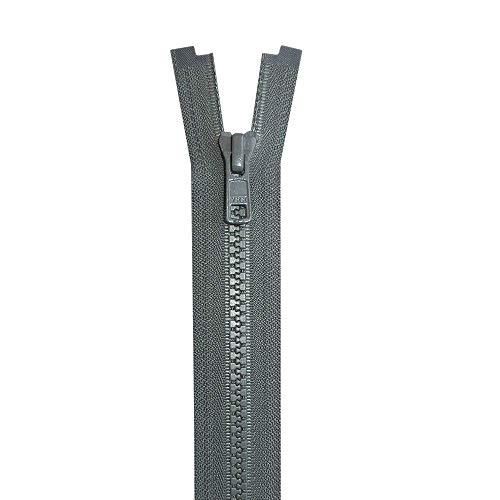 Cremallera 65/cm gris beige divisible metal