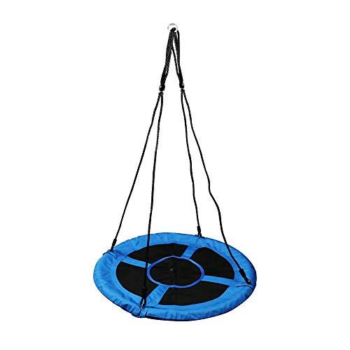 Best Goods Nestschaukel, rund, für Kinder & Erwachsene, verstellbar, Ø 98 cm, Tellerschaukel, bis 100 kg, blau