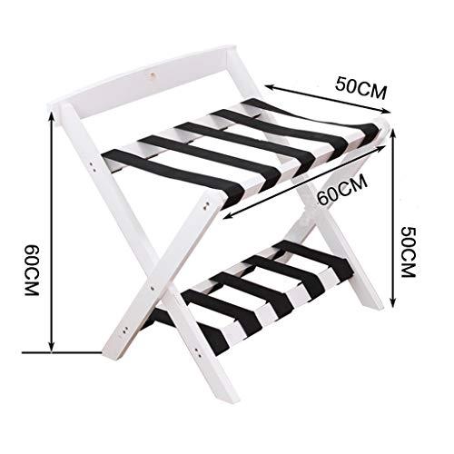 Buy Bargain NYDZDM Hotel luggage rack Solid Wood Luggage Rack Household Folding Living Room Rack Sho...