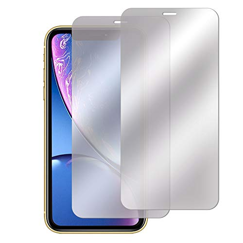 Insten [Mirror] Tempered Glass Screen Protector Compatible with iPhone 11/XR (2-Pack), Film Cover 9H Hardness & Case Friendly, Touch Accurate & Bubble-Free