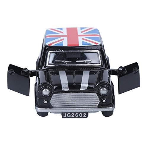 Lantro JS Empfindliches Kinderfahrzeugspielzeug, Fahrzeugspielzeug aus legiertem Material, einzigartig hohe Qualität für Kindergeschenke(BMW Mini Flag Version Black)