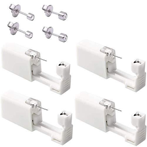 4er Set Ohrring Pistole Set Einweg-ohrlochstechwerkzeugset Asepsis Pierce Kit Mit Ohrstecker Für Ohren Piercing Ohrringe