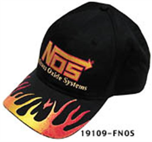 NOS 19109F NOS Cotton Flame Designed Ball Cap with NOS Logo
