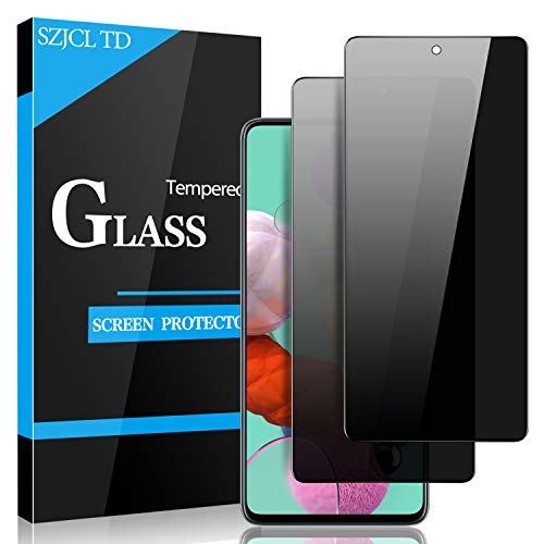 privacy screen protectors Samsung Galaxy S20 FE Privacy Screen Protector, Galaxy A51/A52 Privacy Screen Protector 4G/ 5G, Anti-Spy 9H Tempered Glass Screen Protector Premium Anti-Scratch Bubble Free (2 Pack)