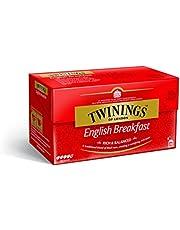 Twinings English Breakfast zwarte thee 50 g, 25 theezakjes, volle, ronde en krachtige zwarte thee uit de beste theeguinen van Sri Lanka en India. Black Tea 1er Pack (1 x 50 g)