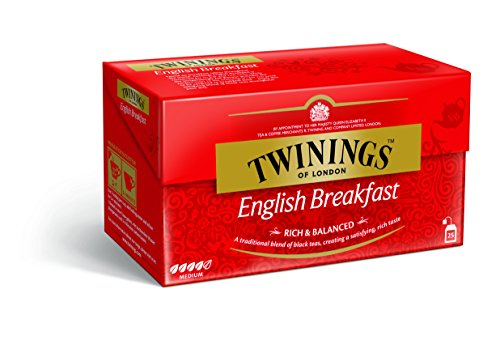 Twinings Tè Nero English Breakfast, 25 Filtri