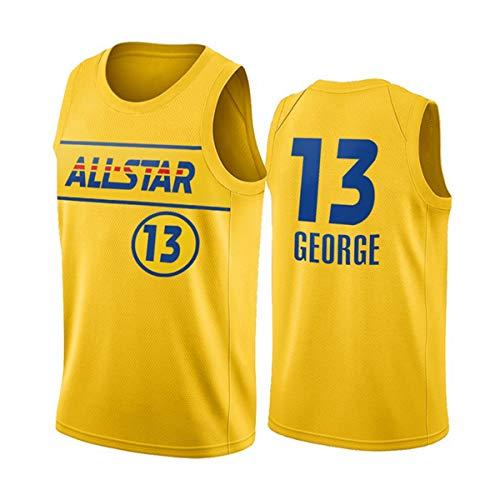 NBA Jersey, 2021 Basketball All-Star Paul George # 13 Jerseys Ropa De Entrenamiento De Baloncesto De Malla Bordada Retro,XL(180~185CM/85~95KG)