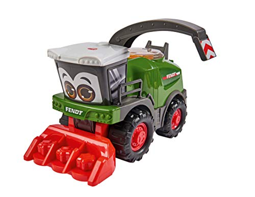 Dickie 203815009 Toys Happy Fendt Katana, Erntemaschine, Spielzeugauto, Bauernhof Spielzeug, Häckslertrommel mit Rasselgeräusch, Traktor, Trecker, Schwenkarm als Tragegriff, 30 cm, Spielzeug ab 1 Jahr