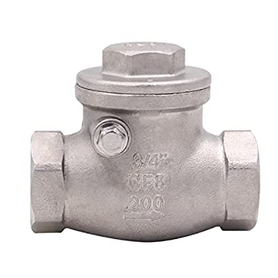 DERPIPE 3/4 Inch Swing Check Valve - WOG 200 PSI Stainless Steel SS304 CF8M NPT by DERPIPE