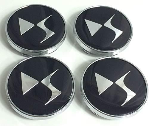 Juego De 4 Bujes De Tapa Central De Rueda De Aluminio Citroen De 60 Mm, Logotipo De Estilo Ds, Cubierta De Placa De Logotipo Cromado Negro