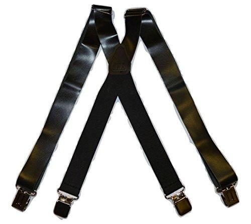Brimarc Bretelles de travail en cuir Marron foncé Taille unique 35 mm
