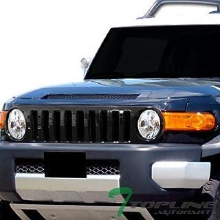 Topline Autopart Black Vertical Front Hood Bumper Grill...