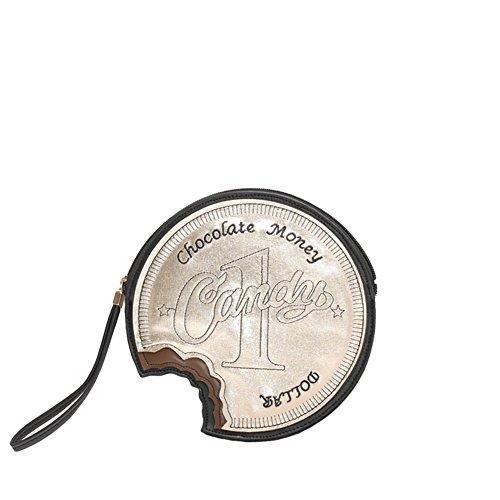 Viviesta Dames Chocolade Geld Nieuwigheid Retro Vintage Straat Stijl Mini Koppelingstas