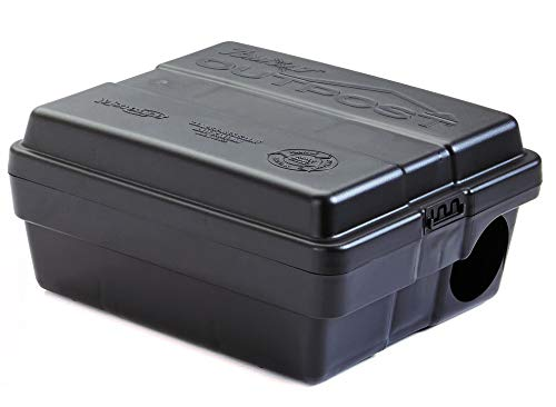Tomcat Bait Station | Outpost Rat Bait Station Works Fast with a Quick Mouse or Large Rodents | Compact Design Takes Up Less Space | Position Vertical or Horizontal | Made in USA