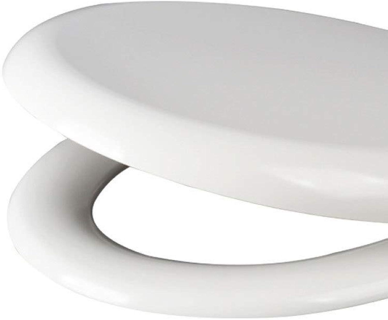 Toilet lid WC-Abdeckung Gebogener U-frmiger Kompatibler Falldmpfer Einstellbare, Oben Montierte, Super Waschbare WC-Abdeckung Weiß-40.544.5  37.7cm
