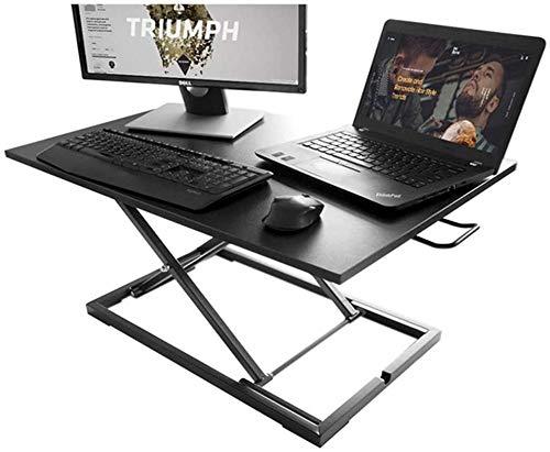 Escritorio de pie ajustable de altura portátil plegable escritorio convertidor mesa estación de trabajo para monitor dual Riser ajuste perfectamente posición sentado