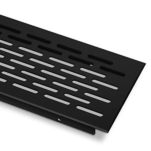 Sotech Lüftungsgitter Belüftung Lüftung Türlüftung Oval - schwarz - 900 mm