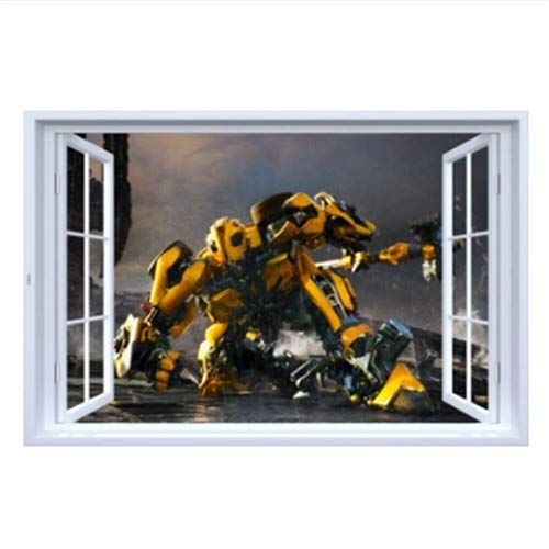 LCFF Wandtattoo 3D Wandaufkleber Wandbilder Transformers Super Hero Tattoo Tapeten Dekorative Herausnehmbare Movie Poster Self Adhesive Kind-Raum-Wand-Dekor 60x90cm
