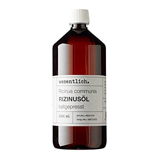 Rizinusöl kaltgepresst 1000ml - 100{87d5180920075117ac1d0c6ec2eeae27b92c987da8520b44aaa353bdfcb1effc} reines Rizinusöl (Ricinus communis) von wesentlich.