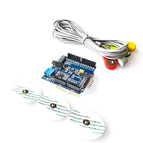 EKG/EKG/EMG-Abschirmung mit Kabeln und Elektroden für Arduino