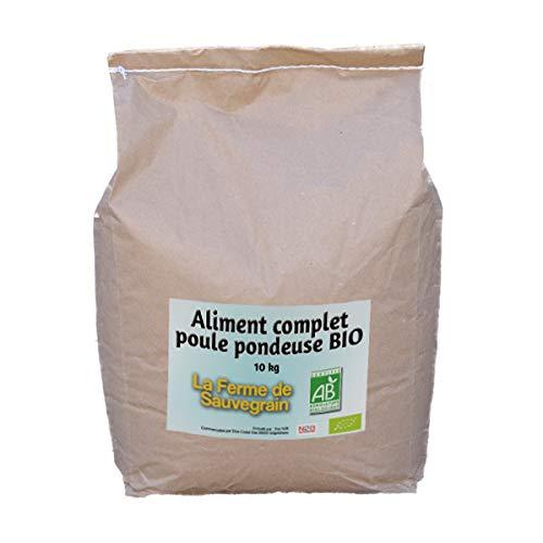 La Ferme Sauvegrain Aliment Complet Bio pour Les Poules pondeuses - 10kg