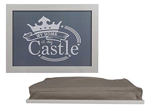 Preis am Stiel Kissen - Tablett ''My Home is My Castle'' | Knietablett mit Kissen | Laptopkissen fürs Bett | Kniekissen | Kissentabletts | Laptopablage Kissen | Knietablett für Laptop