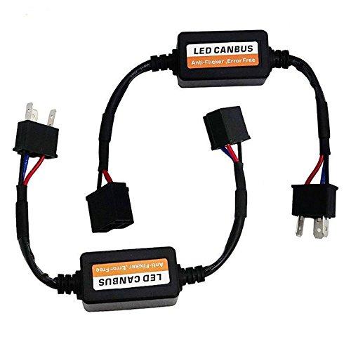 LX-LIGHT (2PCS) Jeep H4(9003) Anti Flicker Harness Error Free Decoders Fit Any 7 Inch Round LED Headlight Systems Jeep Wrangler JK Tj Lj