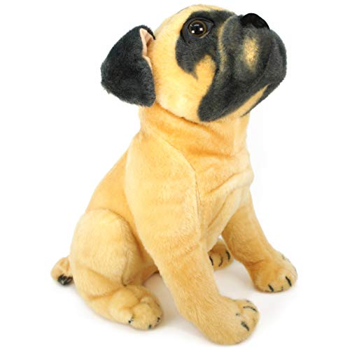 Pippen The Pug - 13 Inch Large Dog Stuffed Animal Plush Dog - by Tiger Tale Toys