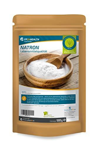 FP24 Health Natron 1000g in Lebensmittel-Qualität - Zippbeutel - Natriumhydrogencarbonat - 1000g - abgefüllt in Deutschland - Top Qualität