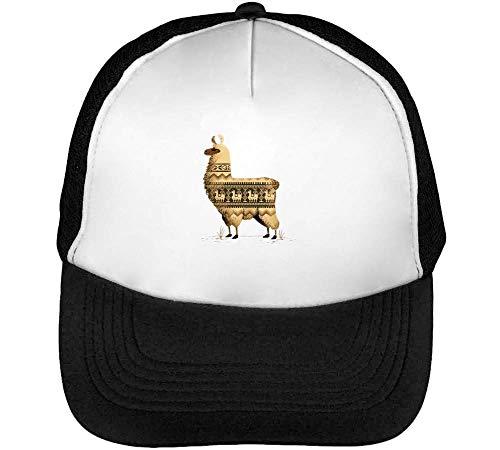 Crazy Lama Animals Collection Cuba Peru Machu Pichu Funky Gift Gorras Hombre Snapback Beisbol Negro Blanco
