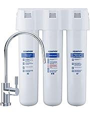 Aquaphor Crystal ECO waterfiltersysteem met filter K3, K7B, K7. Microfiltratie van drinkwater voor betrouwbare verwijdering van bacteriën en micro-organismen, wit, 1