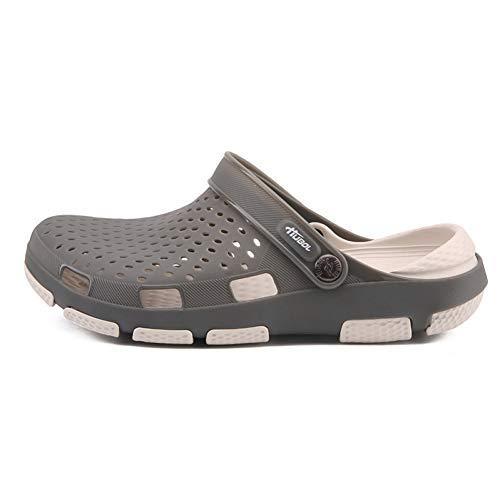 AEPEDC Sandalias para Hombres Baotou Zapatos con Agujeros de Playa Huecos Zapatos de Gelatina Transpirables de Gran Tamaño Sandalias Y Zapatillas de Doble Uso