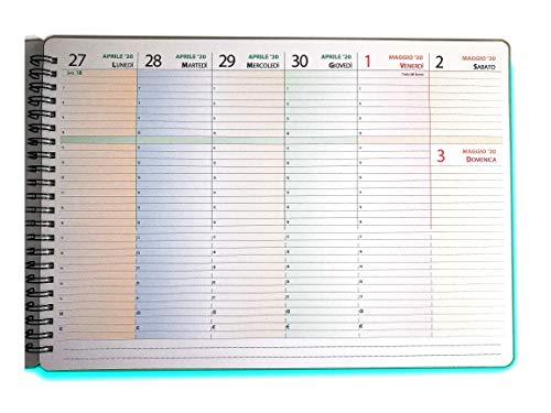 Planning Settimanale Da Tavolo - Con Date - Per La Famiglia e l'Ufficio, Formato A4 30x21cm, Spirale Metallica - CON DATE