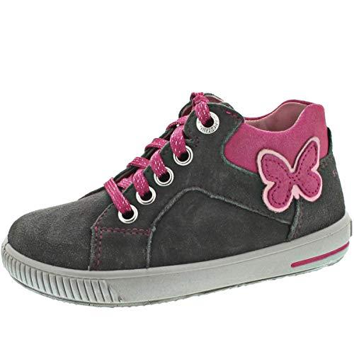 Superfit Baby Mädchen Moppy Sneaker, Grau (Grau/Rosa 20), 21 EU