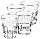 PFALZKIND Schnapsgläser Plastik Kunststoff (4cl), bruchsicheres Mehrweg Glas - wiederverwendbar spülmaschinenfest BPA frei - deutsche Herstellung(4, Shot)