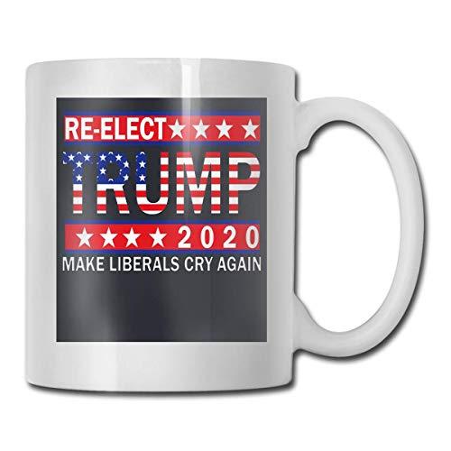 Taza Re-elect 2020 Trump Make Liberals Cry Again, taza de café para bebidas calientes, taza de gres, taza de café de cerámica, taza de té de 11 onzas