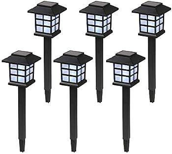 6-Pack Hkfr Waterproof Solar Pathway Lights