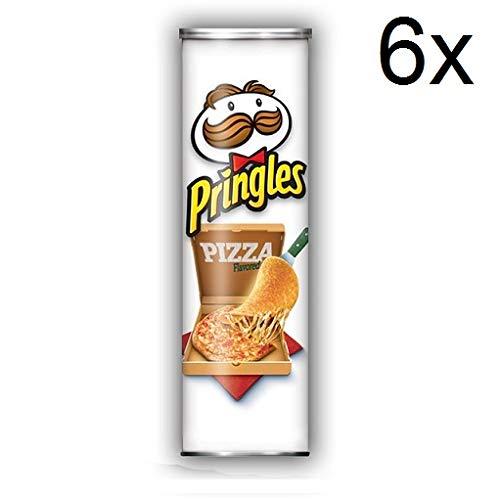 6x Pringles Perfect Flavour Pizza Patatine 160g Kartoffel chips