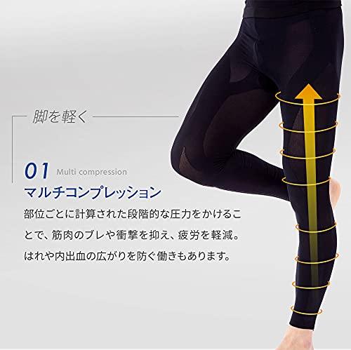 RuntageアスリートランナーPRO(十分丈3Lサイズ)日本製スポーツタイツコンプレッションテーピング加圧ランニングジョギングマラソンメンズレディース