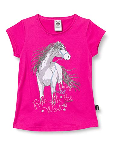 Trigema Mädchen 236248119 T-Shirt, hibiskus, 140