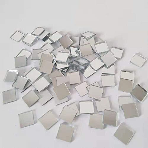 Mosaico de espejo cuadrado, azulejos de mosaico de espejo de cristal, manualidades,...