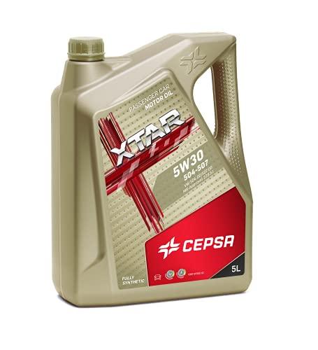 CEPSA 513943077 Xtar 5W30 504.507 5L Lubricante Sintético para Vehículos Gasolina y diésel, 5 L