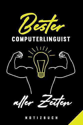 Bester Computerlinguist Aller Zeiten Notizbuch: 120 Seiten Punkteraster Dotted Notizheft für die Arbeit Oder Studium Ausbildung (6x9) Ca. A5 Format Softcover Schwarz