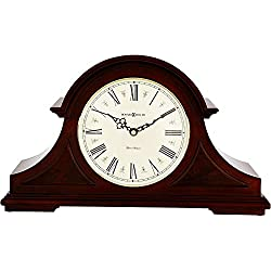 Howard Miller Burton II Mantel Clock 635-107 – Windsor Cherry Wood with Quartz, Triple-Chime Movement