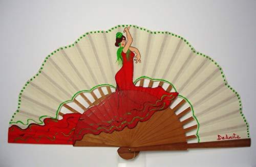 Abanico español/Abanico pintado a mano/Abanico flamenco/Abanico de ...