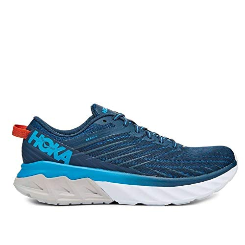 HOKA ONE ONE Men's Arahi 4 Running Shoes, Blue-Navy Blue, 9.5 US