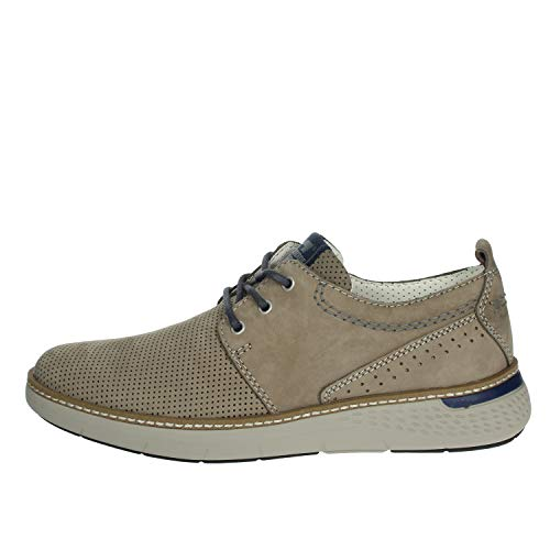 Valleverde 17884 Sneakers Scarpe Uomo in Pelle Tortora Casual