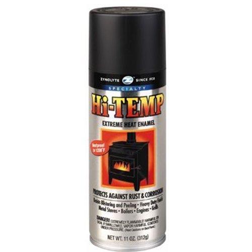 Aervoe Z635 11-oz Black Zynolyte Hi-Temp Extreme Heat Enamel Aerosol Paint