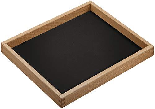 Gedotec Schmuckeinsatz ohne Kehlen für Schublade & Kommode | Schmuck-Tablett zur Aufbewahrung | Schmuckkästchen echt Eiche Massiv-Holz | MADE IN GERMANY | 1 Stück - Schubladen-Einsatz stapelbar